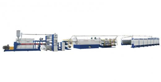 SJPL-GS系列塑料挤出平膜扁丝机组
